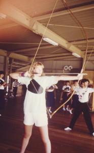 1986 Practicing Kyudo Closeup